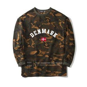 Camisa de camuflaje de la bandera de Dinamarca Hombres Mujeres Camisa de la sudadera con capucha de la moda de Danmark Hoodies Homme 2018 de alta calidad Nuevo