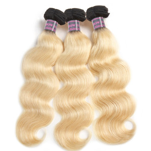 Nuevos productos de la llegada T1B / 613 Blonde Bundles Body Wave 4pcs peruano malasio indio extensión del cabello humano Remy armadura brasileña del pelo