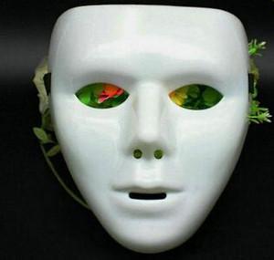 Máscara de face do dia das bruxas branco jabbawockeez máscara hiphop jabbawockeez máscara branca hip hop planície mascarada máscaras branco preto azul verde