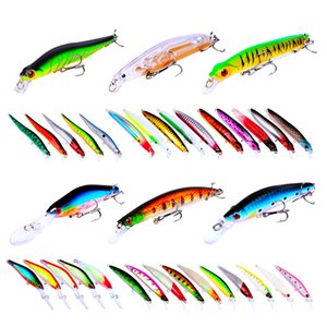 Fishing Crankbaits set Ocean Jerkbait hooks 33pc set 6 styles Wobbler Pencil Swimbaits TWITCH Hard bait
