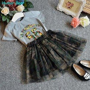 Humor Bear Girls Clothes 2018 Girl Clothing Sets Abbigliamento per bambini modello dirompente Abbigliamento per bambini Toddler Girl Tops + Skirt