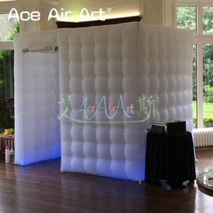 Şaşırtıcı 2,15 milyon H şişme fotoğraf standında muhafaza, katlanabilir perdeler ile düğün ve parti olayı için fotoğraf kabine çadır barınak açtı.