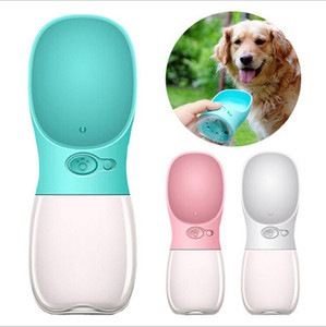 DHL Dog water bottle feeding outdoor travel play easy take cat water cup white blue pink pet supplies 2018 newest gifts 350ML