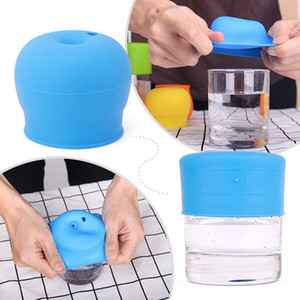 Bpa Free Grade Silicone Straft Strap Sippy Lids for Baby Cup Mik Mug Silicone Cup Cover with Leave Strach Proof