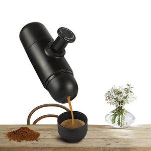 Mini Manual Portátil Cafeteira Mini Espresso Manualmente Pressionado Pressão Ester ...