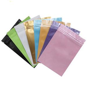 دي إتش إل الملونة البلاستيك التعبئة حقيبة كيس رقائق الألومنيوم الرمز البريدي قفل سستة أكياس صغيرة الحجم جانب واحد لون جانب واحد واضح