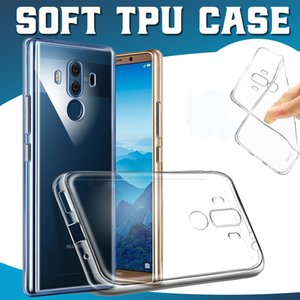Ultra fino macio tpu silicone transparente de borracha transparente capa case para huawei p30 pro p20 lite mate 20x10 nova 5i y9 y6 p inteligente anti-batida