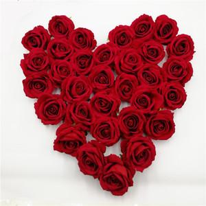 30 / lot Rose Artificial Flowers PE artificial real touch flowers para la boda casera flores decorativas guirnaldas