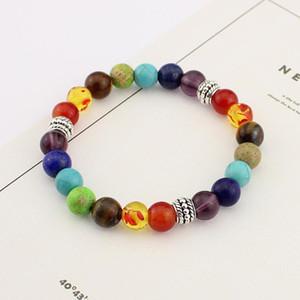 2020 Tantalit Achat Handzeichenfolge 8 mm handgefertigte Perlen Yoga Energy Perlen Armband