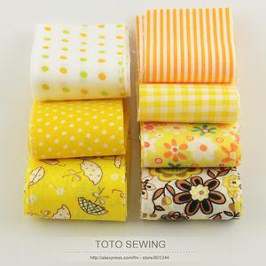 Booksew 100% algodão tecido F036 # 7 pçs / lote ouro amarelo conjunto tiras de rolo de geléia quilting patchwork 5 cm x 100 cm para diy artesanato artesanal