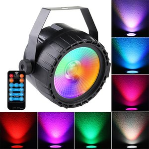 LED Stage Light RGB UV COB Par Light 30W ParLight Control remoto inalámbrico Lámpara de iluminación de escenario DJ DMX Luces para bares de fiestas Decoratio