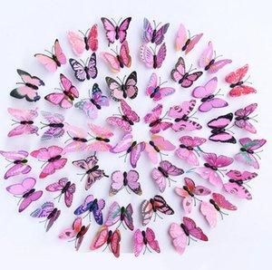 Papillons Cendrillon 3d papillons décoration stickers muraux 3d papillons 3d papillons pvc stickers muraux amovibles aimant papillon Broches