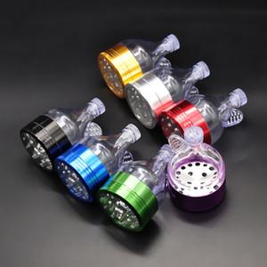 """1 X Aluminio Metal Funnel Grinder 2.2 """"3 Unidades de Tabaco Hierba Trituradora de especias Mano Cracker Muller personalizar"""