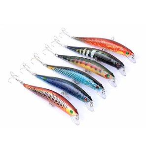 6-Color 9,7 centímetros 8,2 g japão Pintura rígido Bait Laser Minnow Fishing Lure Pesca ganchos peixes wobbler enfrentar artificial crankbait