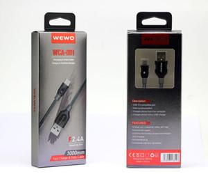 WEWO micro Tressé type de câble usb c chargeur rapide 1M / 2.4A haute vitesse de charge Lignes Date téléphone Câbles USB pour les téléphones Android