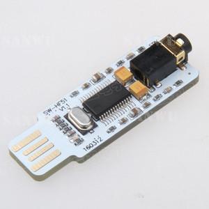Livraison gratuite Mini PCM2704 USB Audio Carte son DAC Decoder Board Free Drive pour PC portable