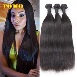 TOMO Peruvian Silky Straight Hair Weave Bundles 10-26 inch Straight Virgin Human Hair Weave For Black Sexy Woman 100% Human Hair Extensions