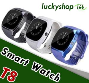 안드로이드에 대 한 새로운 T8 블루투스 스마트 보수계 시계 카메라 동기화 전화 메시지 남자 여성 Smartwatch 시계 1pcs SIM TF 카드를 지원