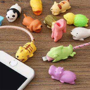 2 pezzi kawaii Cable Bite Animal iphone a forma di avvolgitore di cane morso accessorio del telefono burla giocattolo divertente per iphoen XS MAX XR
