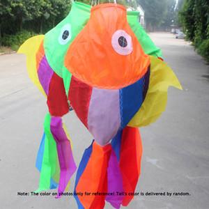 Juguetes para niños Cometa 70 cm Longitud Multicolor 3D Cometas Cometa tipo pez Cometas de cola Ripstop Sail Kite Accesorio