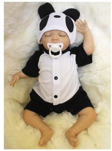 Sıcak Yeni Reborn Baby Doll 18 Inç Gerçekçi BeBe Yeniden Doğmuş El Yapımı Yeniden Doğmuş Bebek Çocuklar için Mevcut