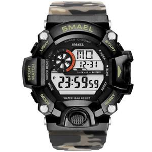 2018 Smael Sport Montre Homme Homme LED Horloge numérique Montres Quartz Hommes Top Montre numérique Relogio Masculino