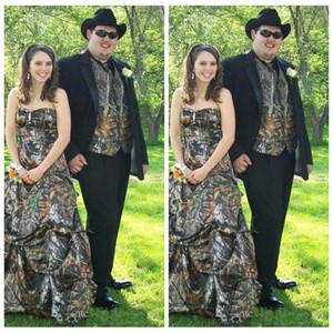 2019 Vintage Camo Vest Men Wedding Tuxedos Custom Formal Groom Wear Camouflage Groomsman Suit Best Fitted Custom (Jacket+Vest+Pant+Tie)