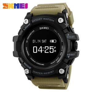 Skmei spor smart watch erkekler dijital bluetooth pedometre kalori su geçirmez smartwatch ios ve android için erkekler nabız saatler