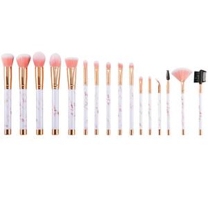 Pro 16Pcs Marbles Lines Pinceles de maquillaje Set Maquillaje profesional Bruh Tools Corrector de base Make up pincel maquiagem