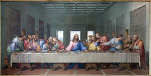 The Last Supper Leonardo Da Vinci, stampe su tela Wall Art Olio su tela Home Decor / (Senza cornice / Incorniciato)