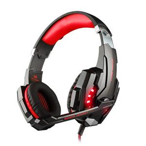 3.5mm لعبة سماعة ستيريو الألعاب سماعة فوق الأذن سماعة مع ميكروفون الصمام الخفيفة لأجهزة الكمبيوتر اللوحي / PS4 / الهواتف المحمولة ألعاب الكمبيوتر