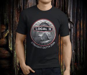 Local H Sraight Outta Zion Post Grunge Hole Mad hombres negro camiseta tamaño S-3xl hombres camiseta 2018 verano 100% algodón