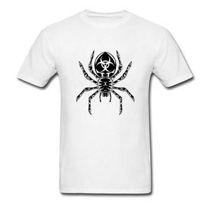 Tribal Tarantula Printed On T-Shirts Men Big Black Spider T Shirt Summer Autumn Plain Design O Neck Tops Tees Unique T Shirt