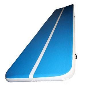 Tumble piste Équipement Tumbling Air Mat gonflables Mats Gym pour une utilisation Accueil, Gymnastique, Plage, Parc avec pompe Livraison gratuite