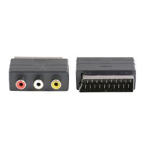 Хорошее качество 10 шт. / лот стандартный 21pin SCART Мужской до 3 RCA женский AV TV аудио видео адаптер конвертер