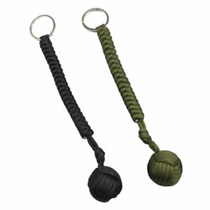 Outdoor Steel Ball Security Protection Bearing Self Defense Rope Lanyard Survival Tool Key Chain Multifunctional Keychain Bracelets NY008