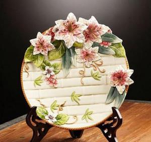 Printemps Lily assiettes décoratives en porcelaine assiettes décoratives vintage home decor artisanat chambre décoration figurine