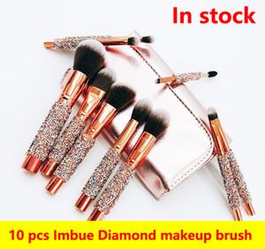 Professionelle 10 Teile / satz lidschatten Erröten Make-Up Pinsel Set Foundation Blending Powder Lidschatten Kontur Concealer Erröten Kosmetik Make-Up