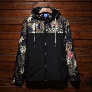 브랜드 디자이너 재킷 고품질 얇은 럭셔리 남성 윈드 야외 스포츠 위장 재킷 코트 스트리트 브랜드 편지 L-4XL