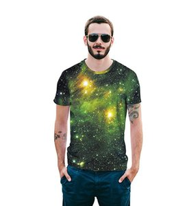2018 summer and the new shirt 3D digital Print Starry sky men T-shirt personalized Street short sleeved shirt