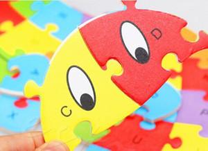 Nuovo per bambini Bambini animali di legno Numbers Alfabeto puzzle Jigsaw apprendimento educativo interessante collezione di giocattoli