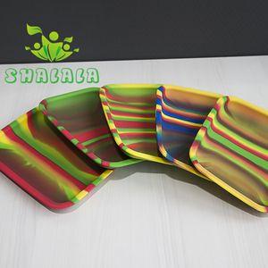Bandeja para enrollar tabaco de silicona de color 20 cm * 15 cm * 2 cm Handroller Bandeja de almacenamiento para fumar resistente al calor Prueba Dab Rig DHL 492