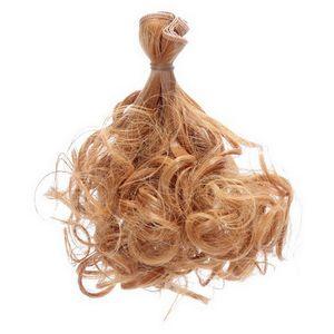 1: 3 1: 4 1: 6 BRICOLAGE Perruque en Perruque Periwig Hot Poire Cheveux Frisés Pour Poupées BJD SD Pistes De Marionnettes Poupée Accessoires GradientRamp Couleur