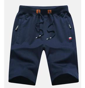 Men Shorts Cotton 2018 Men Short Pants Zipper Casual Summer Trousers Solid Shorts Elastic Waist 4XL Street Wear New