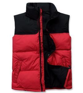 Moda clásica de la marca hombres mujeres invierno cálido abajo chaleco chaquetas Womens Casual abajo chalecos abrigo para hombre chaleco Tamaño: S-2XL