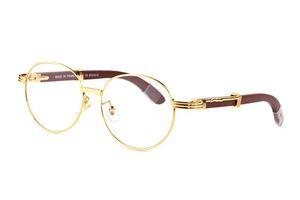 Boynuz Erkekler Retro daire Yuvarlak Buffalo boynuz Gözlük Marka Tasarımcı ahşap güneş gözlüğü çerçeveli