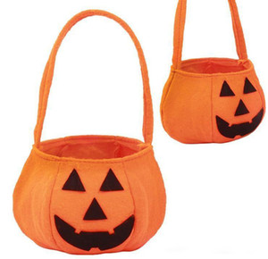 Moda Hot Halloween Sorriso Sacchetto di zucca Bambini Candy Bag Bambini Handhold bag Rifornimenti del partito Treat