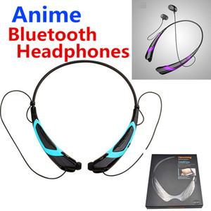 Anime esportes sem fio bluetooth fones de ouvido estéreo sem fio fones de ouvido estéreo fones de ouvido csr 4.0 neckband com pacote de varejo para iphone x smartphone android