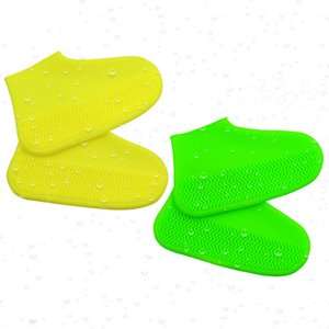 Waterproof Shoe Cover Rain Boots Reusable Silicone Rubber Rainy Day Shoes Anti-skid Motorcycle Bike Overshoe for Men Women Unisex
