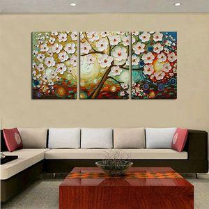 Lucky Tree Modern Abstract 3 Stück handgemaltes Landschaftsölgemälde auf Leinwand Modern Home Art Decor